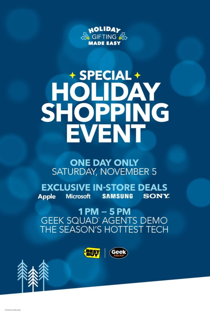 Best Buy Special Holiday Shopping Event