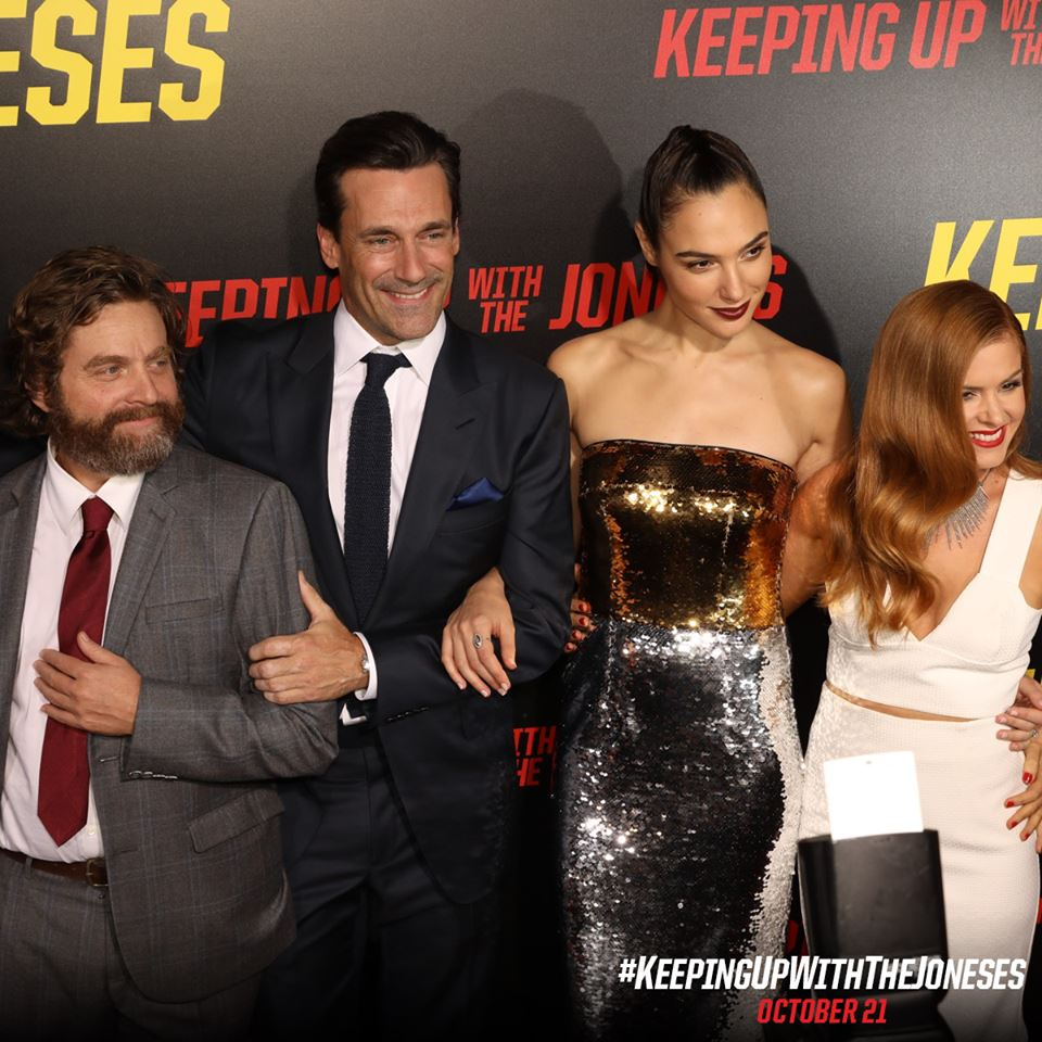 Keeping Up With The Joneses Press Conference and Red Carpet Premiere