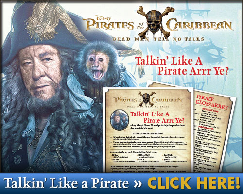 Pirates of the Caribbean: Talk Like a Pirate Free Printable