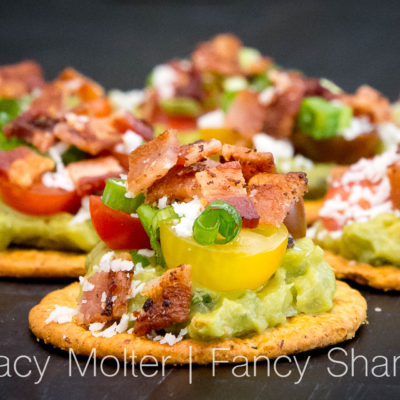 Bacon Avocado Sweet Potato Cracker Bites