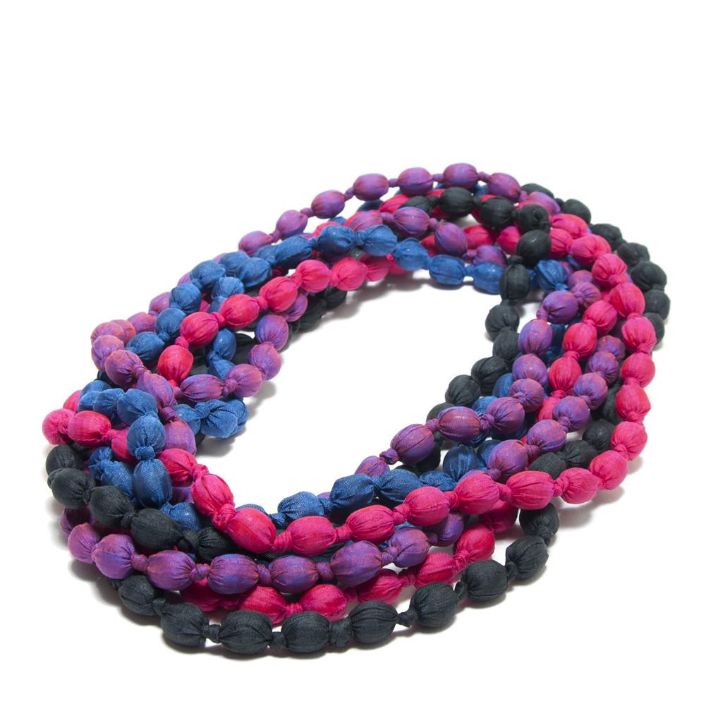 Bold Silk Knotted Necklaces