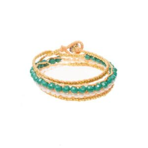 Teal Wrap Bracelet