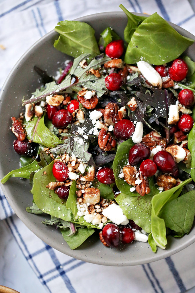 Making a delicious salad any time of day is easier than you think. Check out these 3 easy salad recipes, Cranberry & Pecan, Hearty Veggie & Citrus, and our popular Power Salad, perfect for brightening up any meal.