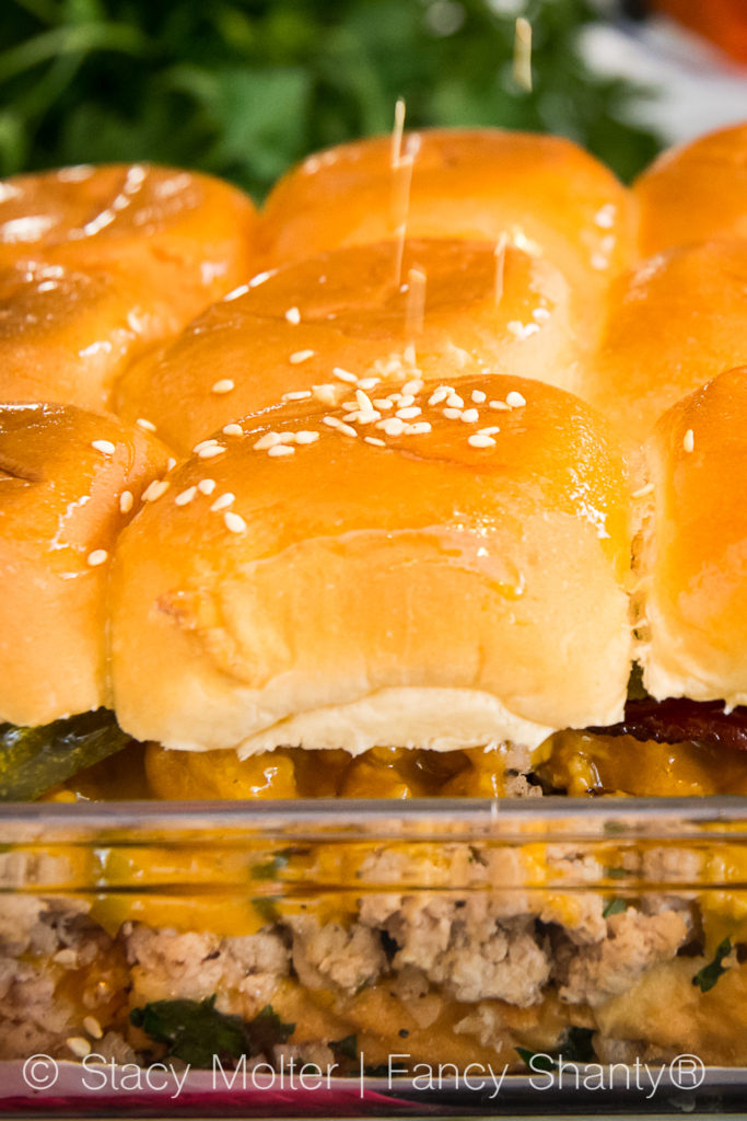 Cheddar Bacon Baked Turkey Burger Sliders Recipe