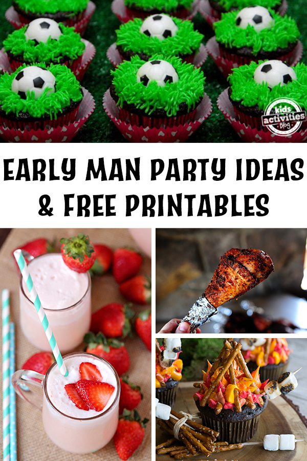 Early Man Party Ideas & Free Printables