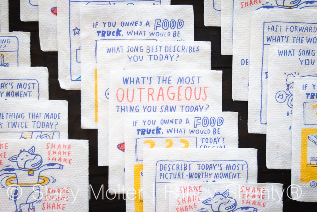 Spark Up A Discussion with Mardi Gras Conversation Napkins