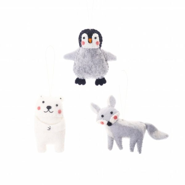 Arctic Fox Animal Ornament