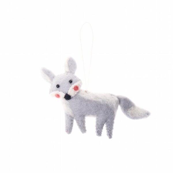Arctic Fox Animal Ornament