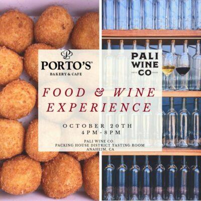 Porto's Bakery Pop-Up at Pali Wine Co. Anaheim