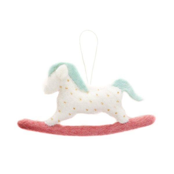 Felt Rocking Horse Ornament