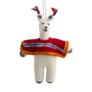 Llama with Poncho Ornament