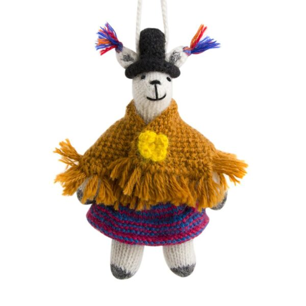 Llama with Shawl Ornament