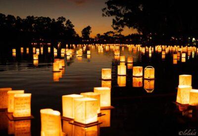 Newport Beach   1000 Lights Water Lantern Festival