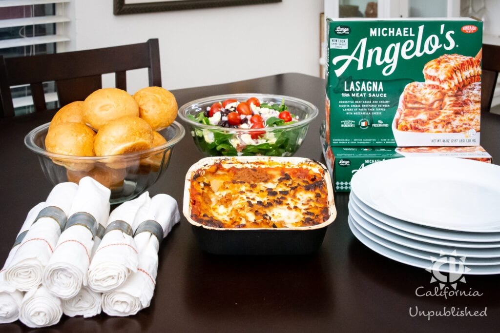 Easy Meal Solutions for a Busy Family with Michael Angelo's Lasagna With Meat Sauce