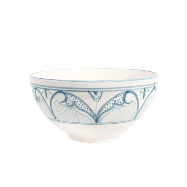 Large Fern Bowl Blue