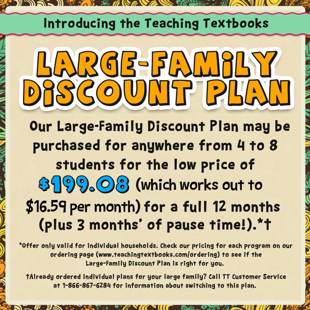 Teaching Textbooks Family Plan