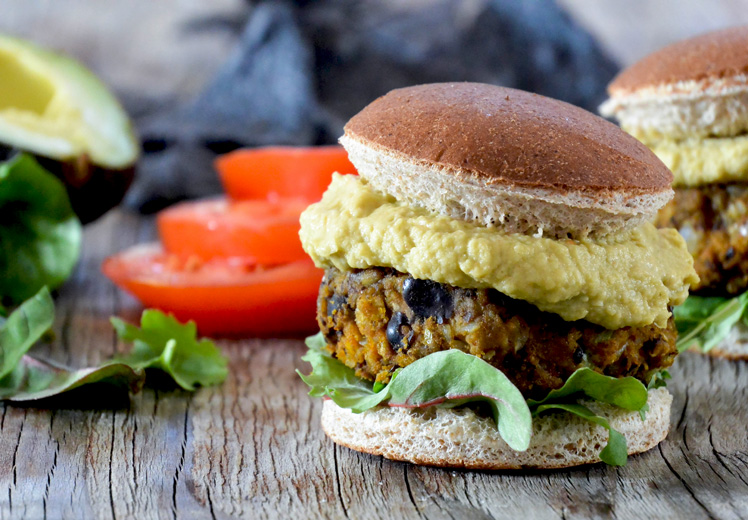 Pumpkin And Black Bean Sliders