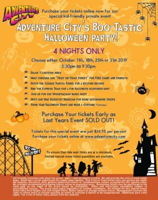 Adventure City's BooTastic Halloween Party!