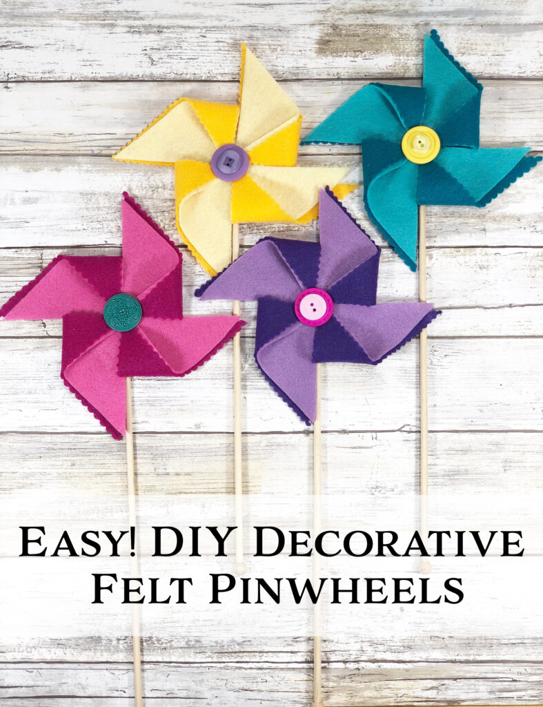 Easy! DIY Decorative Felt Pinwheels