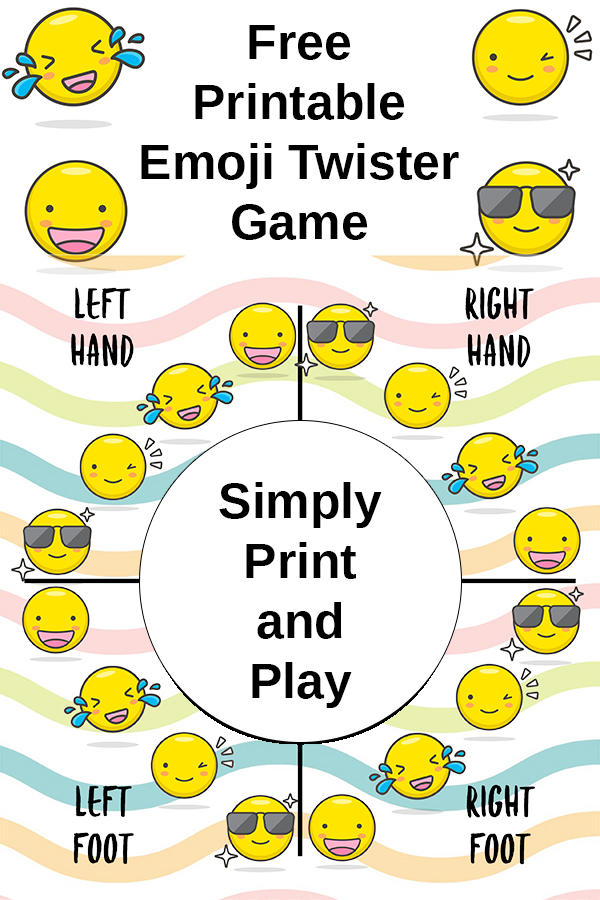 graphic about Twister Spinner Printable called No cost Printable Emoji Twister Recreation - California Unpublished