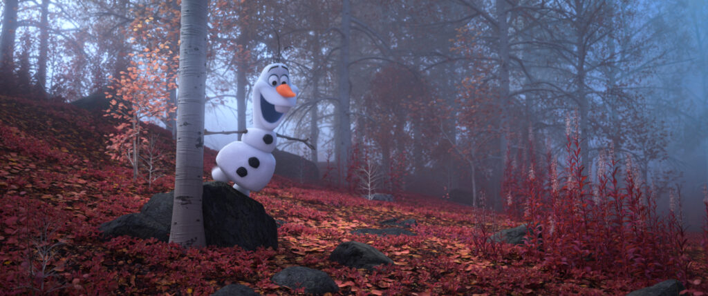 """WHEN I AM OLDER – When Elsa, Anna, Kristoff and Olaf find themselves in the enchanted forest in """"Frozen 2,"""" Olaf faces a series of inexplicable events, illustrated in the song """"When I Am Older."""" Despite the mystery and dangerous realities coming to life before his eyes, the lovable snowman is convinced that one day, it'll all make sense. Featuring Josh Gad as the voice of Olaf, Walt Disney Animation Studios' """"Frozen 2"""" opens in U.S. theaters on Nov. 22, 2019. © 2019 Disney. All Rights Reserved."""