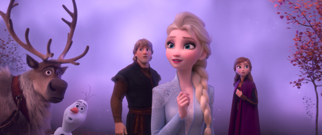 """FROZEN 2 - In Walt Disney Animation Studios' """"Frozen 2, Elsa, Anna, Kristoff, Olaf and Sven journey far beyond the gates of Arendelle in search of answers. Featuring the voices of Idina Menzel, Kristen Bell, Jonathan Groff and Josh Gad, """"Frozen 2"""" opens in U.S. theaters November 22. © 2019 Disney. All Rights Reserved."""