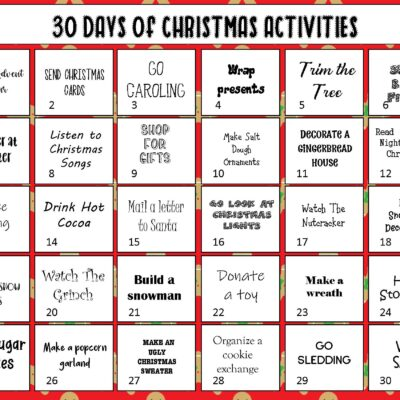 30 Days of Christmas Activities – Christmas Bucket List Ideas