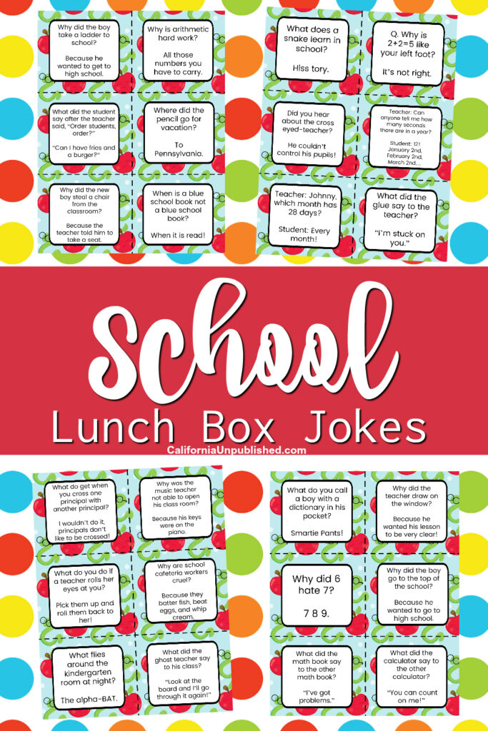 Download and print these free printable school lunch notes, perfect for slipping into your child's school lunch to give them encouragement, a smile, and even a little giggle throughout the day.