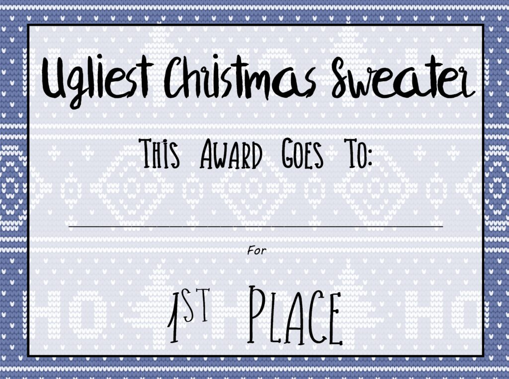 Free Printable Ugly Christmas Sweater Kit
