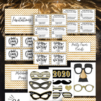 New Year Eve Party Kit Free Printable