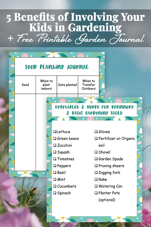 Teach kids to be good stewards of our earth by getting them involved with gardening. Our free printable garden journal will help you get started.