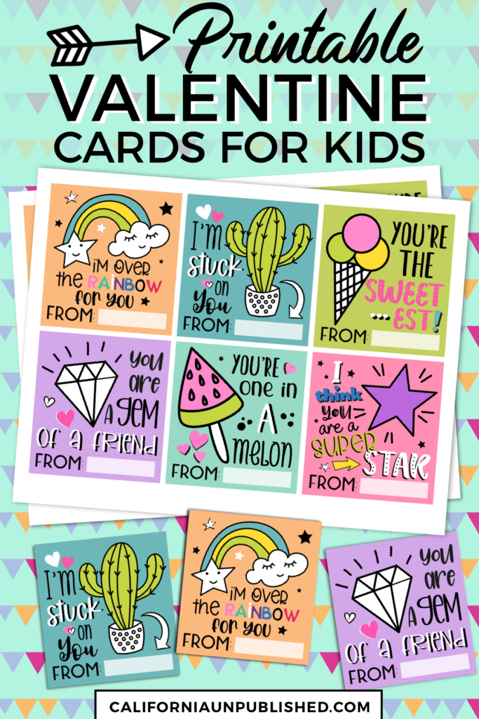 Download and print this set of free printable Valentine cards for kids, perfect for school, sports teams, and youth groups.