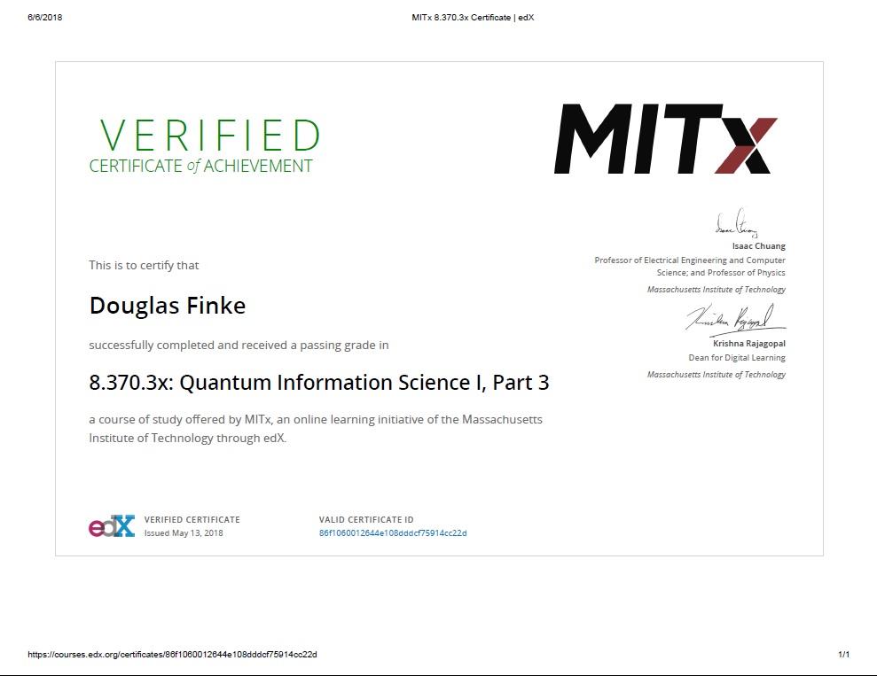 Douglas Finke MIT