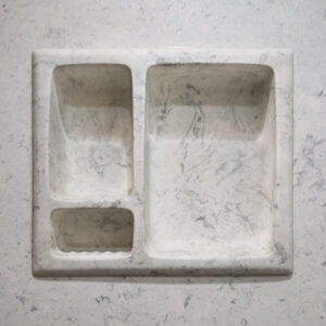 Inset Marble soap dish