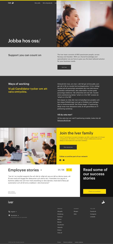 Team page – Desktop