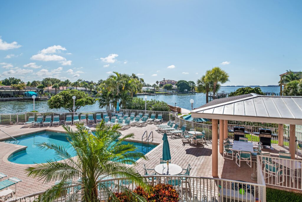 View from Sunrise Resort, St. Pete Beach.