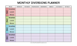 Thumbnail Monthly Diversions Planner Diary Calendar