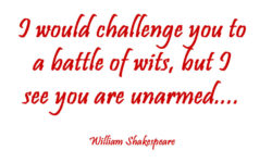Thumbnail Sakespeare Quote Battle of wits