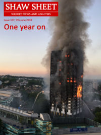 Cover Image 157 Grenfell Tower one year on