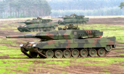 German Bundeswehr Challenger tanks on manoevers