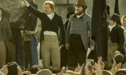 Issue 177 Cover page - scene in Peterloo (the movie) where the speakers greet the crowd in the square in Manchester