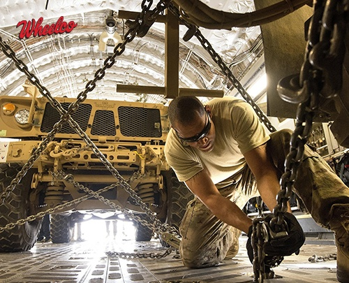 Man Working On Military Truck