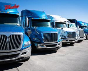 Blue Semi Truck Lineup