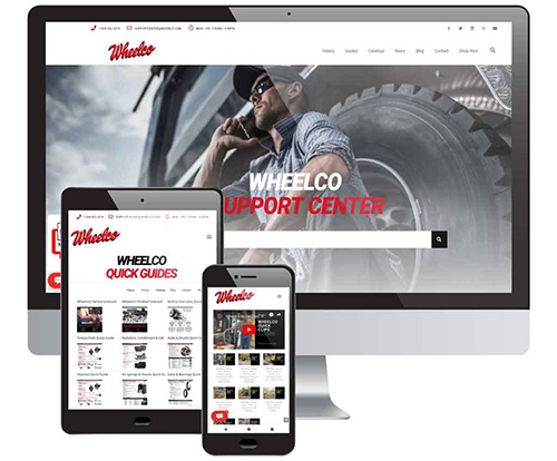 Wheelco Support On Desktop & Mobile Device