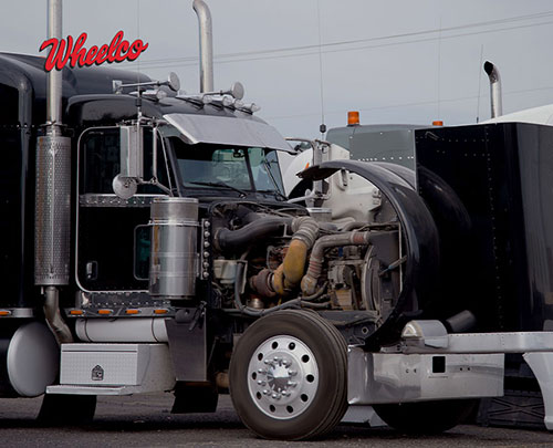 Open Front Semi Truck