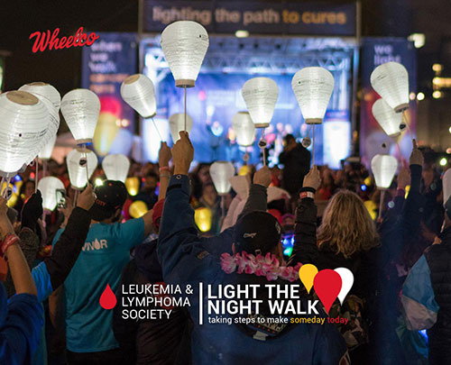 Wheelco Truck & Trailer contributes in the first Leukemia & Lymphoma Society's (LLS) Light The Night Walk at Falls Park.