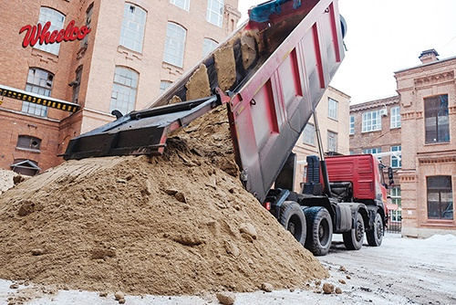 Large Red Dump Truck