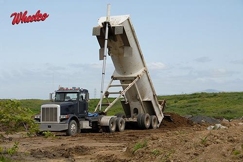 Large White Dump Truck