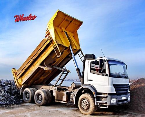 Small Yellow Dump Truck