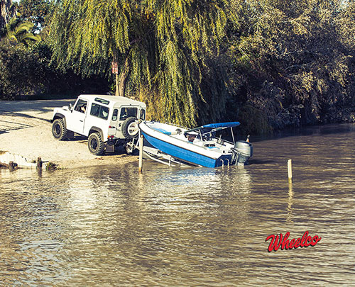Jeep Towing Boat